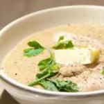 Суп-пюре из курицы с грибами