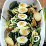 Салат со щавелем и картофелем