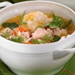 Куриный суп с кукурузными клецками