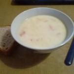 Сырный суп с помидорами