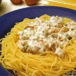 Спагетти с ореховым соусом