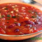 Ароматный фасолевый суп-пюре