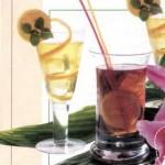 Яблочный и лимонный коктейли