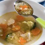 Суп с алфавитом и зеленым маслом