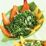 Тёплый салат с полентой и тыквой
