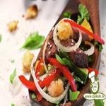 Тёплый салат с уткой