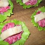 Рисовый салат с сельдью