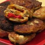 Котлеты из баклажан с начинкой из сладкого перца