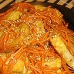 Салат из жареного тофу