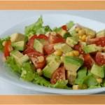 Салат из кабачков с кукурузкой