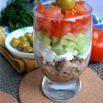 Салат из кускус и овощей