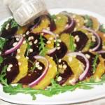 Свекольный салат с сельдью и апельсином