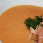 Суп из копчёной рыбы с тыквой