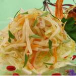 Салат из дайкона или редьки с капустой