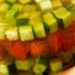 Заливное из печёных овощей