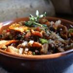 Гречка с куриным филе и грибами