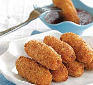 Картофельно – рыбные палочки с острым соусом