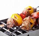 Овощи – гриль со свининой в маринаде