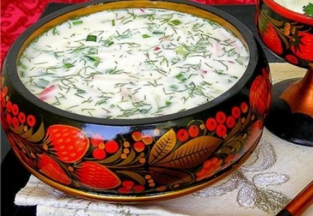 Окрошка овощная на кефире