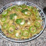 Салат из огурцов с шампиньонами и йогуртом