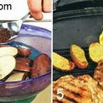 Телятина на гриле с картофелем