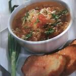 Суп из молодых овощей с гренками