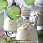 Мороженое из огурцов и сыра с тимьяном