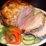 Жареная свинина в квасе