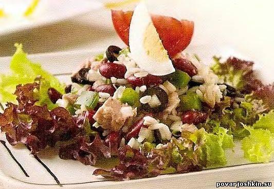 Греческий салат с рисом