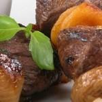 Кебаб из баранины с грибами