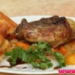 Курица с овощами и абрикосами