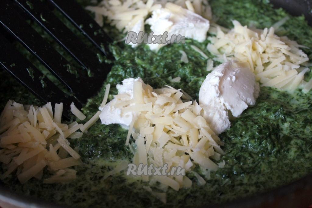 Рыба в соусе из шпината
