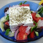 Греческий салат с пряной фетой