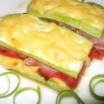 Кабачковые сэндвичи с грудинкой