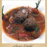 Люля – кебаб в соусе из слив