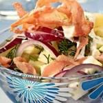 Мясной салат с грушами