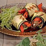 Овощные рулеты – гриль с телятиной и грибами