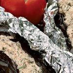 Острая закуска из фаршированных баклажанов