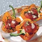 Перцы, фаршированные помидорами черри