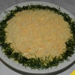 Салат «Мимоза» с сыром, без яиц