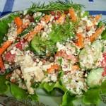 Салат из гречки с творогом
