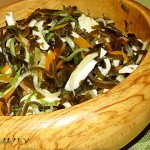 Салат из кальмаров с тыквой и морской капустой