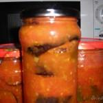 Баклажаны в яблочно – томатном соусе