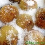 Варенье из белой черешни с фундуком