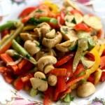 Овощной салат с маринованными грибами