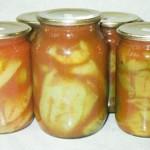 Перцы, фаршированные овощным салатом