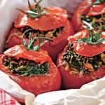 Помидоры, фаршированные шпинатом и сыром