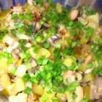 Салат с патиссонами и зелёным горошком