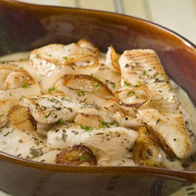 Рыба запеченная в сметанном соусе пошаговый рецепт