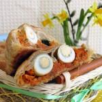 Конвертики с морковью и яйцами
